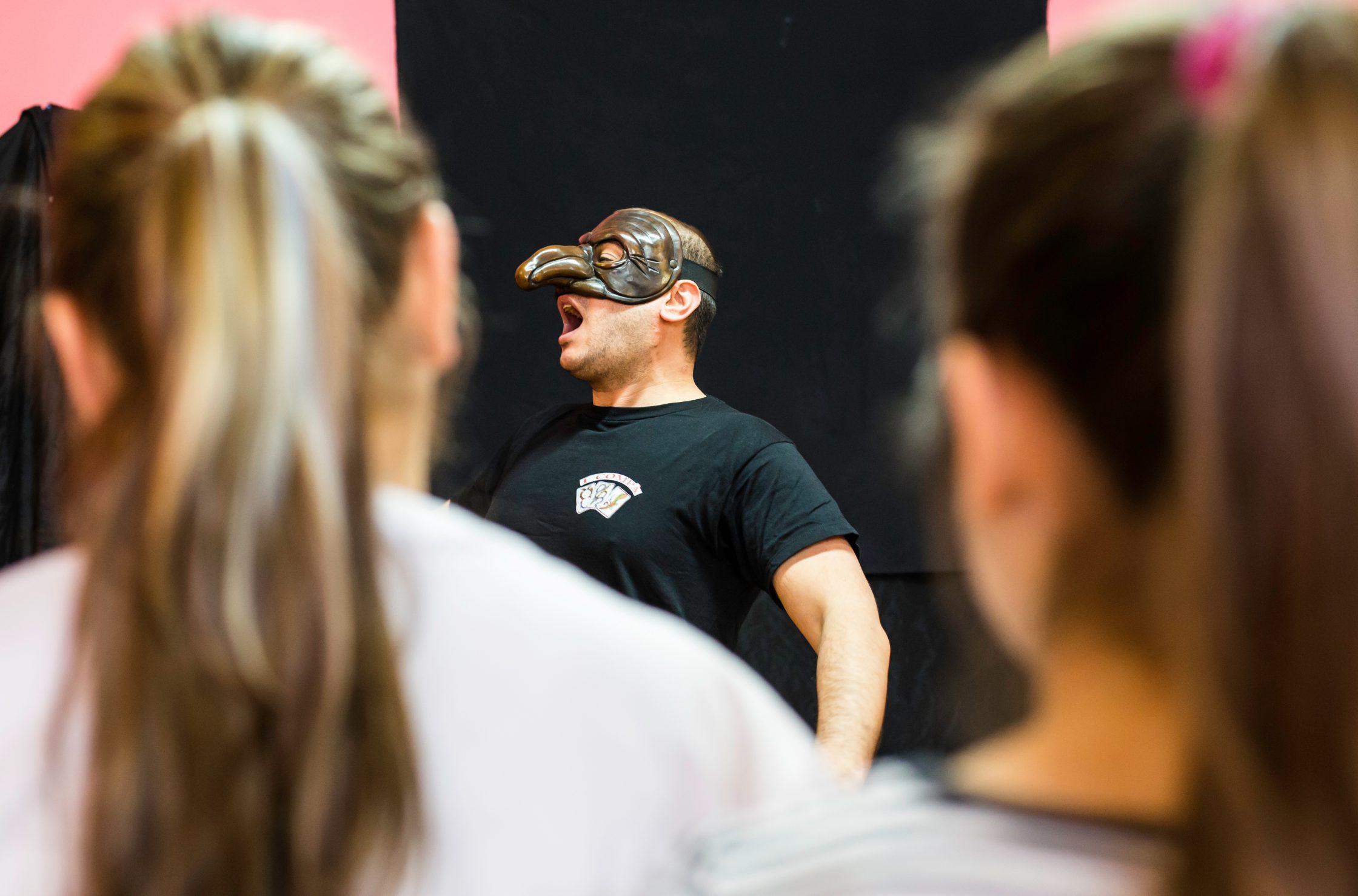 a picture of Marco Ziello teaching Commedia dell'Arte