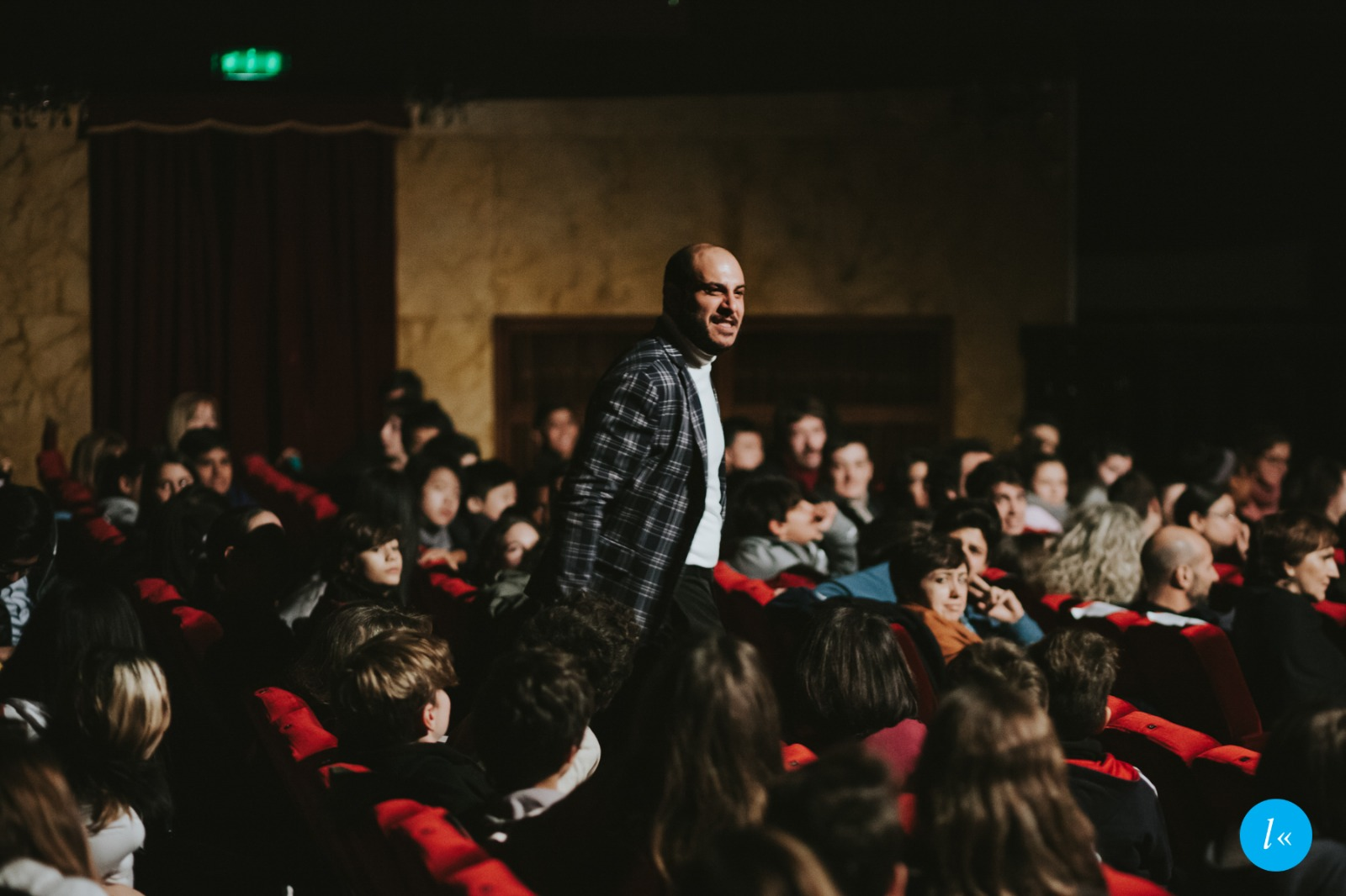 Marco Ziello nella platea del Teatro Duse